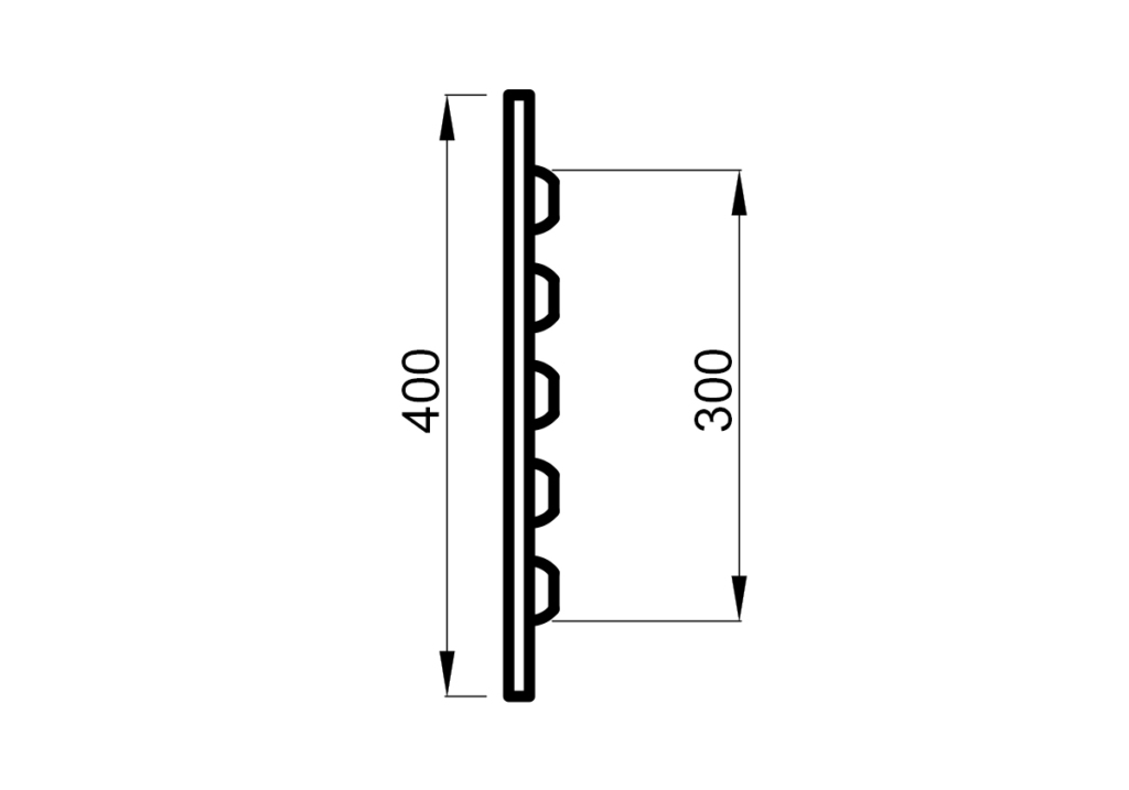 BENCH SKIRT 140 (16mm), THERMO ASPEN