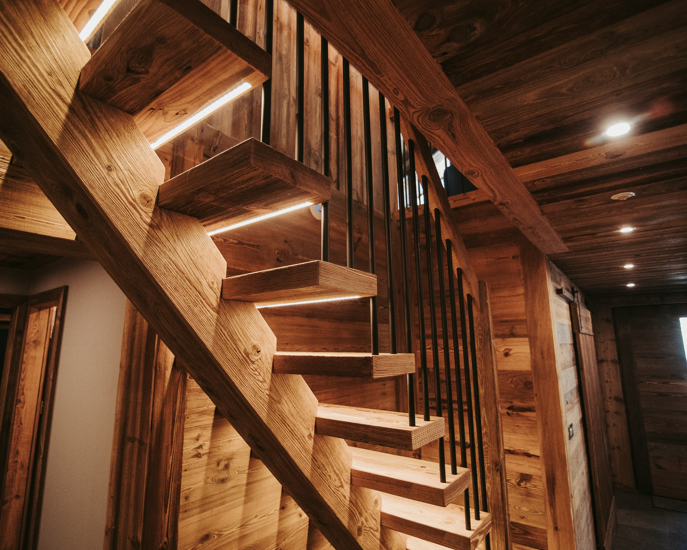 OLD WOOD STAIRS